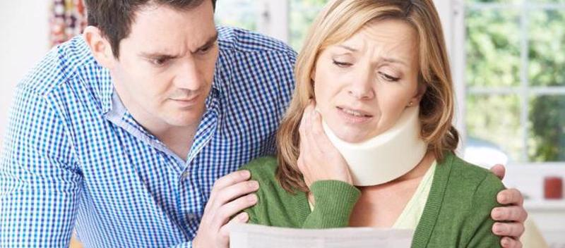 A woman with a neck injury filing for Social Security disability.