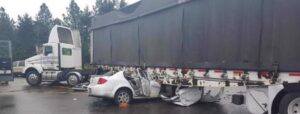 What should you do after a truck crash?