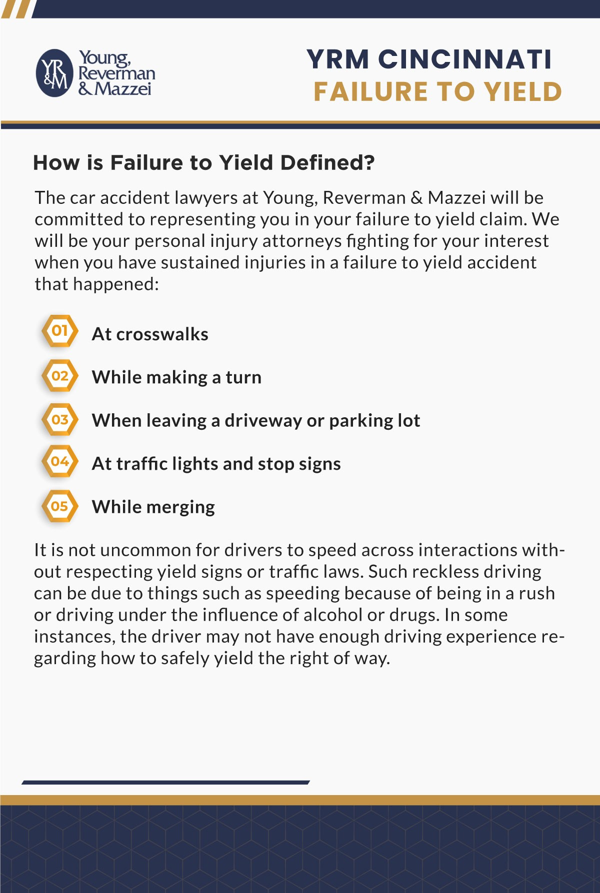 Cincinnati Failure To Yield Accident Lawyer Infographic