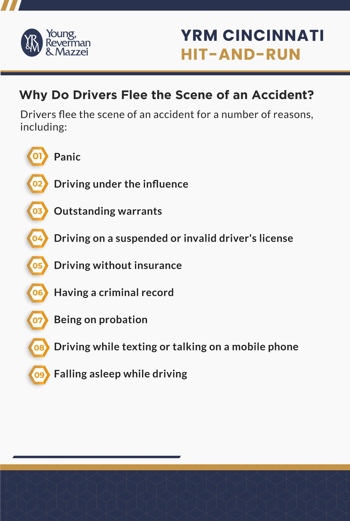 Cincinnati Hit And Run Accident Lawyer Infographic