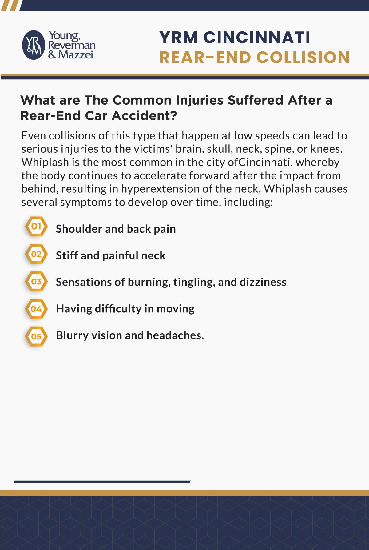 Cincinnati Rear End Collision Accident Lawyer Infographic