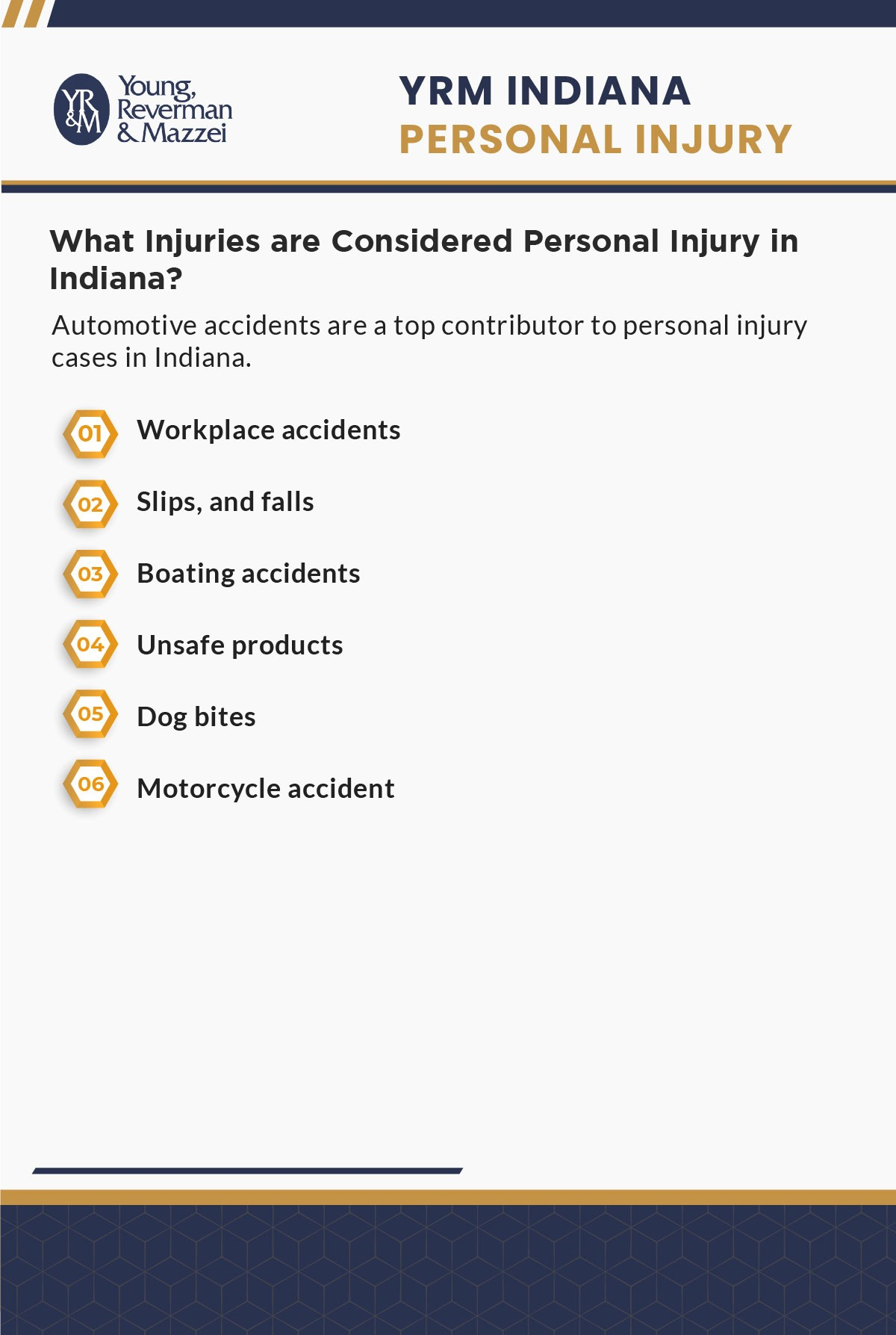 Indiana Personal Injury Lawyer Infographic